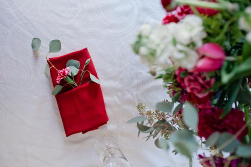 Wedding Table Napkin flower