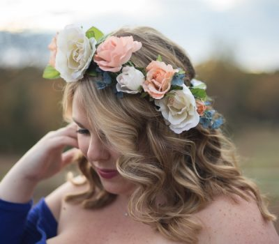 Pink Peony Silk Flower Crown