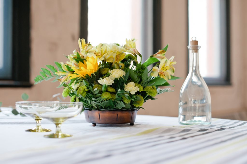 Party table yellows