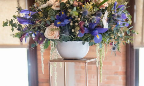 floral design tall arrangement wedding