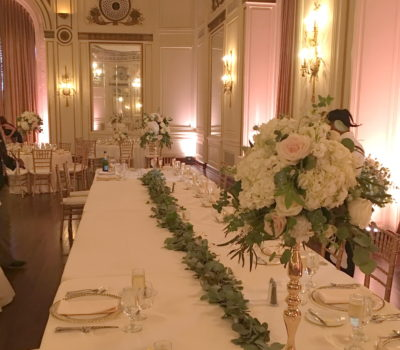 Wedding Head Table Flowers Garland Colony Club Detroit
