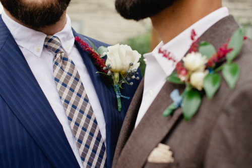 Groom Boutonniere Groomsmen Detroit Flowers Wedding biergarten