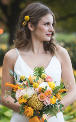 Gold mustard wedding bridal hairpiece