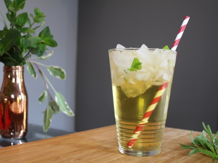 Summer drinks cocktails basil rum punch herbs