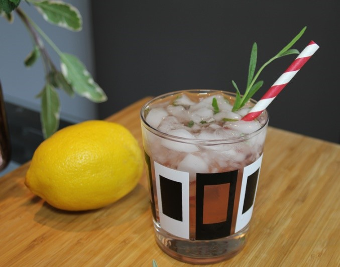 garden herbs cocktails cranberry rosemary home grown