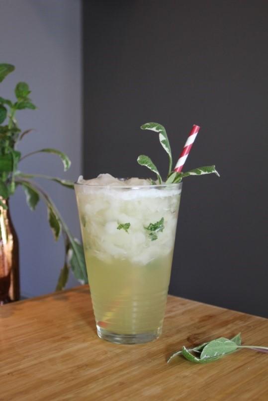Garden Herbs for cocktails sage cooler punch