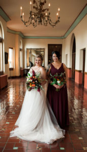 Detroit Yacht Club Wedding bride bridesmaid