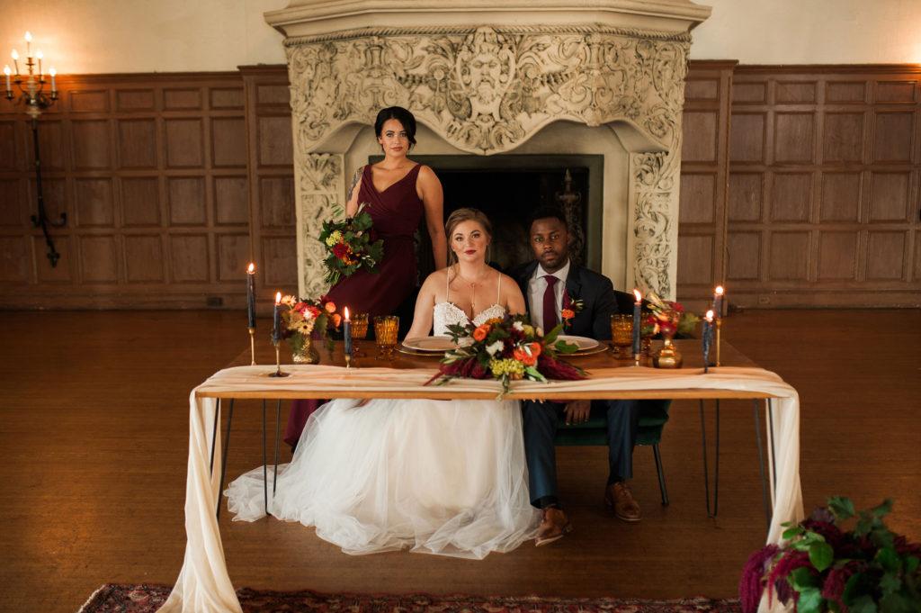 Detroit Yaccht Club wedding table centerpiece