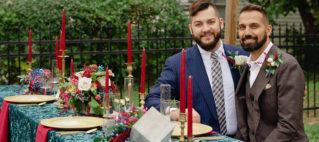 Detroit LGBT Wedding Floral design head table