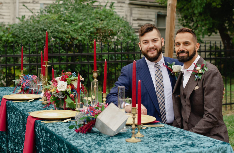 Detroit LGBT Wedding Floral design head table