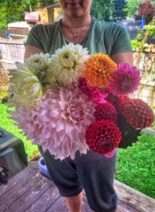 Dahlia bouquet Summer