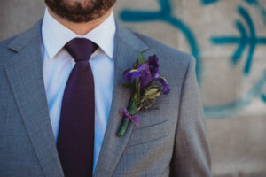 Boutonniere Detroit Wedding Iris Nigella