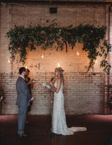Greenery Chuppah Eastern Detroit Wedding ceremony