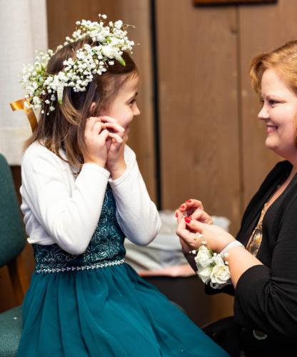 Flower Girl Baby's Breath flower Crown wedding