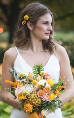 Gold mustard wedding bridal hairpiece