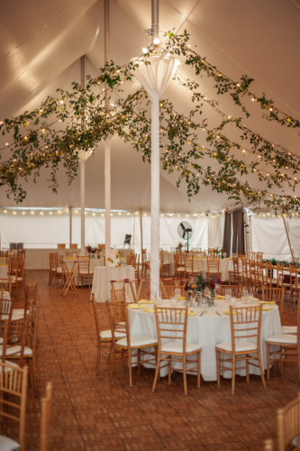 Tent Garland Smilax greenery design Cornman Farms