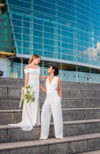 Detroit Bridal portrat Ren Cen