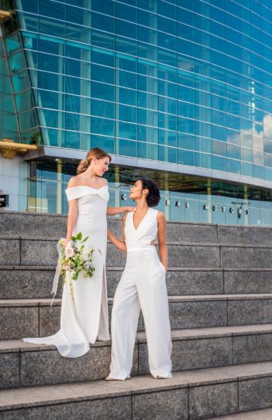 Detroit Bridal portrat Ren Cen