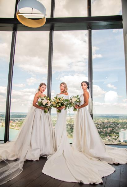 Detroit River Canada 3 Brides wedding