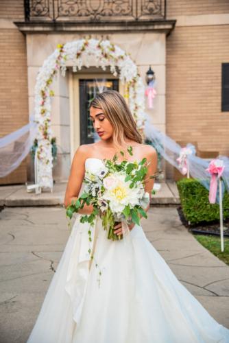 Detroit Bridal Bouquet Dahlia